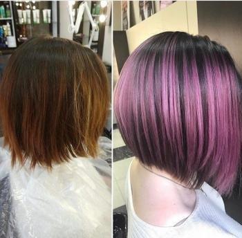 Фото окрашивание шатуш волос