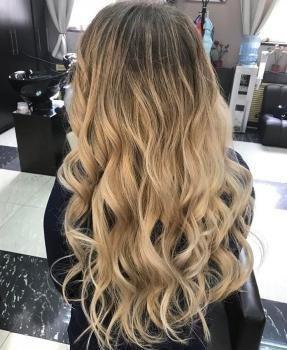 Фото окрашивание балаяж волос