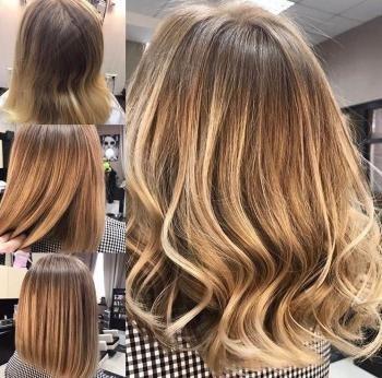 Фото омбре волос
