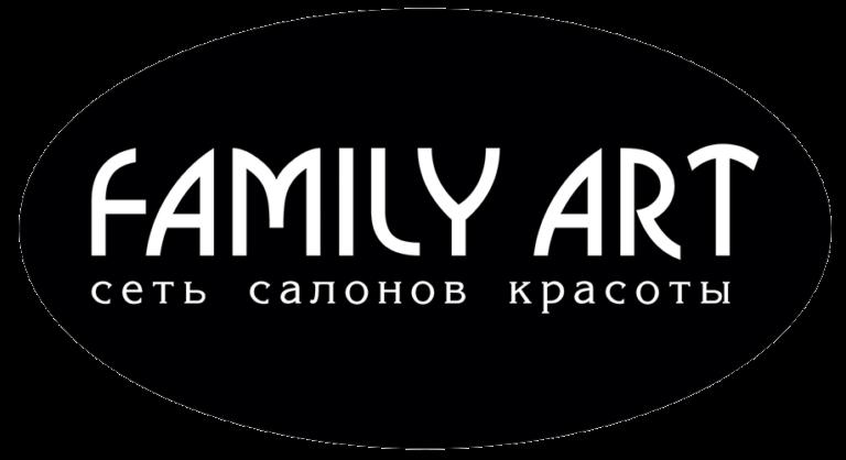 Логотип сеть салонов красоты Familyart в Москве, место Нагатинская, Каширская, Нагорная, Серпуховская, Добрынинская