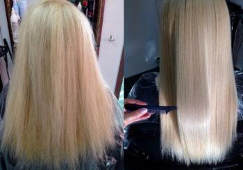 Ботокс волос результат фото