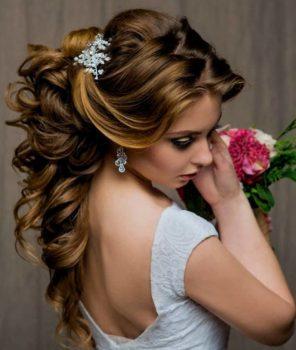 Свадебная прическа на длинные волосы фото