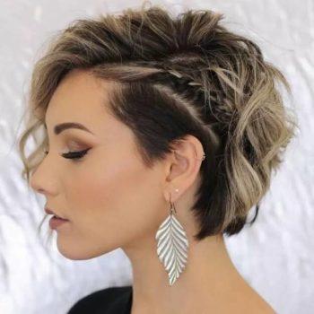 фото Укладки коротких волос в салоне красоты