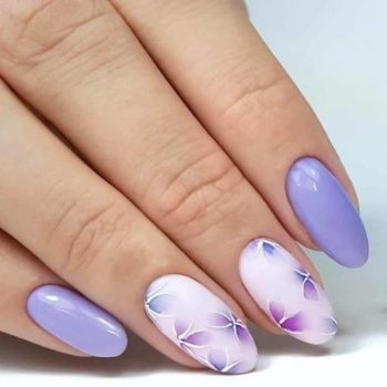 фото Акварель на ногтях в салоне красоты