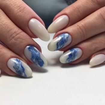 фото Акварель на ногтях в Москве