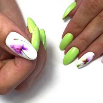 фото Акварель на ногтях недорого