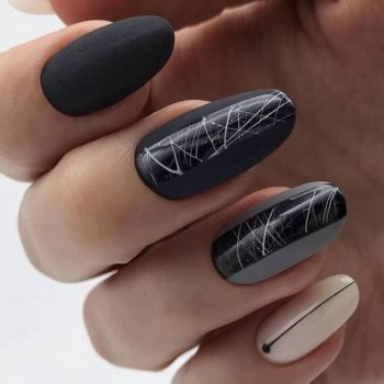 фото Паутинка на ногтях недорого