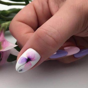 фото Акварель на ногтях на Серпуховской