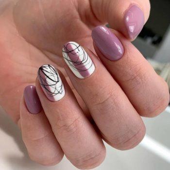 фото Паутинка на ногтях на Нагатинской