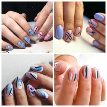 фото Полоски на ногтях в Москве