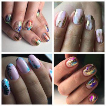 фото Фольга для ногтей в салоне красоты