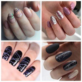 фото Паутинка на ногтях в салоне красоты