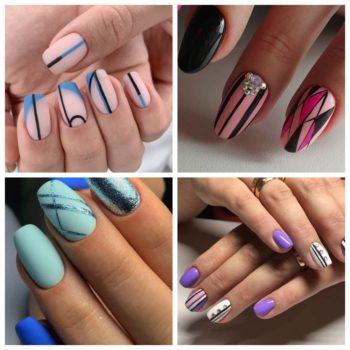 фото Полоски на ногтях в салоне красоты